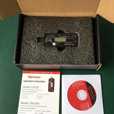 美国艾普瑞温湿度记录仪179-DTH冷链运输温度计测量仪APRESYS正品