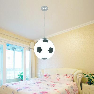 足球篮球玻璃球吊灯主题酒吧餐厅儿童房装饰吊灯简约吸顶灯灯具