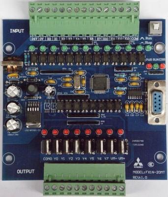 国产三菱PLC工控板 FX1N-20MT 在线下载 监控 文本 断电保持