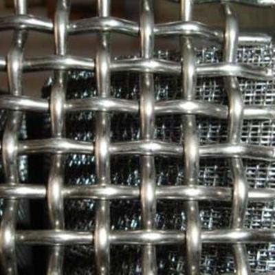 天津轧花网  金属编织筛网  编织重型锰钢包边振动筛 矿筛网厂家