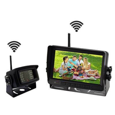 无线货车倒车影像数字信号记录仪公交影像二合一录像后视监控系统
