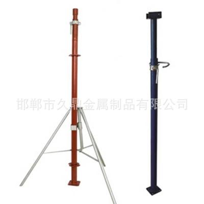 建筑钢支撑三脚架 铝模板可调节单支撑 Q235顶梁支撑 现货直销