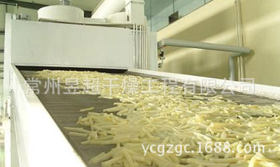 供应生姜片烘干机、土豆片干燥机、红薯片等专用带式干燥设备