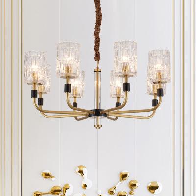轻奢欧式全铜吊灯现代时尚客厅卧室餐厅灯具奢华欧式艺术装饰吊灯