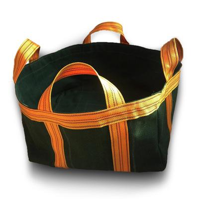 加厚帆布吨袋有机硅帆布承重袋吊装袋吊物袋物流运输袋高空吊物袋