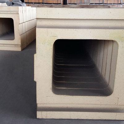 半锆质竖炉导风墙异型砖现货供应 抗高温耐冲刷耐侵蚀 钢铁厂专用