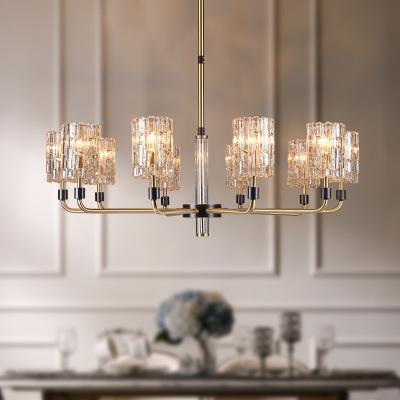 轻奢美式全铜吊灯现代时尚客厅卧室餐厅灯具奢华欧式艺术装饰吊灯