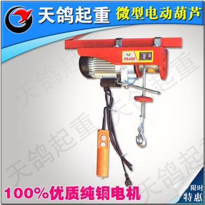 专业批发国标220V纯铜微型电动葫芦家用装修吊机起重机PA600*20米