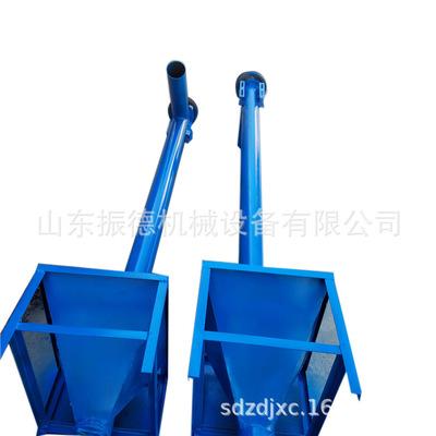 移动式螺旋输送机 带料斗的螺旋输送机 小型玉米螺蛟龙输送机振德