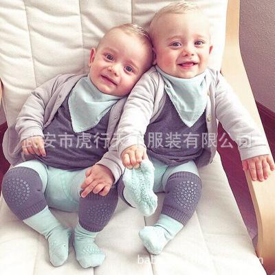 毛圈儿童护膝护肘夏季婴儿宝宝爬行学步袜套点胶防滑运动护具包邮