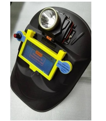 自动变光氩弧焊冷焊接面罩带灯可充电面罩多功能眼面防护具平面罩