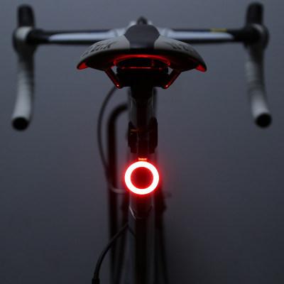 自行车尾灯usb充电山地车灯夜骑安全公路车骑行创意尾灯装备
