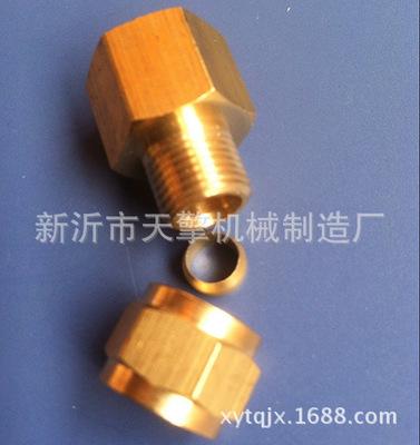 热卖MISUMI DKFR6内螺纹卡套式铜管接头自产自销
