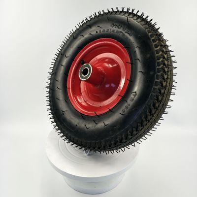 青岛厂家促销16寸防滑耐磨高弹性6RP铁轮毂4.00-8天然橡胶充气轮