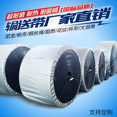 厂家定制PVG橡胶面整芯阻燃输送带矿用防静电耐高温PVC阻燃带