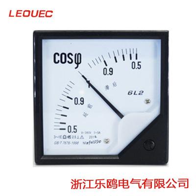 厂家供应80*80 6L2-COS功率因数表 指针式仪表 380V 5A
