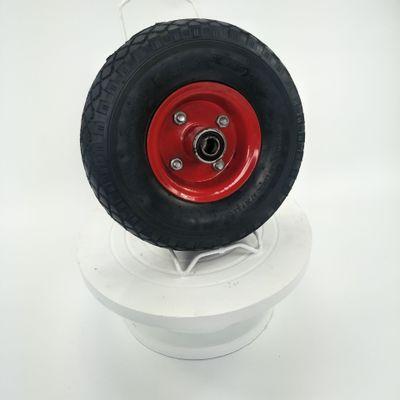 青岛工厂直销10寸宝石花防滑耐磨静音3.00-4铁轮毂天然橡胶充气轮