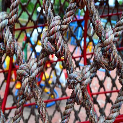 供应麻绳装饰网室内外攀爬网吊顶麻绳编织网 球场用尼龙绳围网