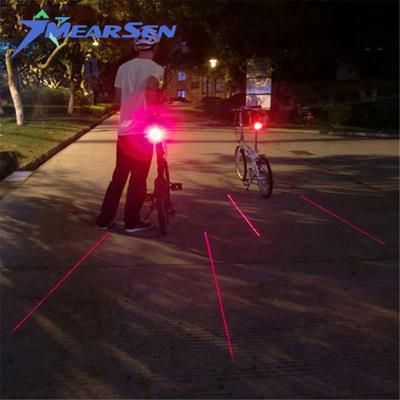 自行车爆闪尾灯 安全生命线 山地车激光尾灯 单车平行线 满天星
