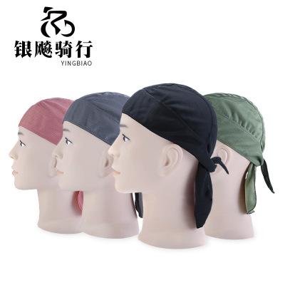 夏季薄款 户外骑行海盗帽速干运动头巾排汗透气防晒头套海盗头巾