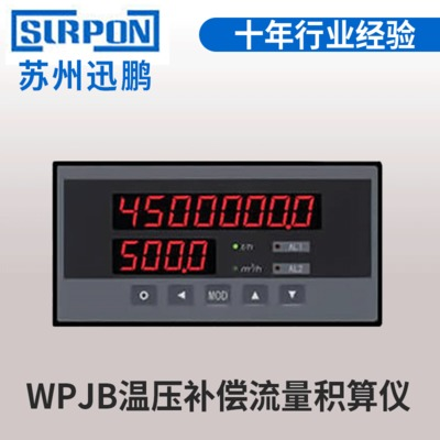 定制WPJB温压补偿流量积算仪 LED屏幕智能流量积算仪厂家直销