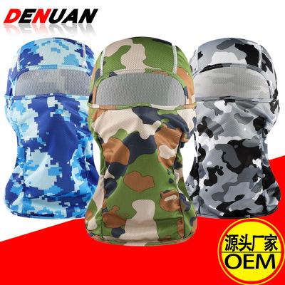 迷彩战术头套户外防寒防风保暖伪装保暖透气头巾骑行战术装备面罩
