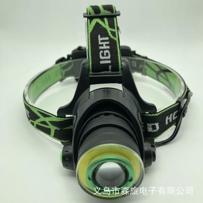 新款LED充电户外变焦强光远射矿灯 T6夜钓鱼灯 铝合金XPE头灯