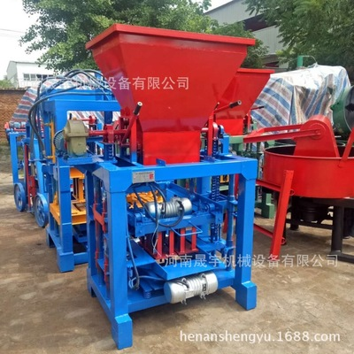 直销4-35半自动水泥砖机 液压小型砌块机 免烧制马路花砖机生产线