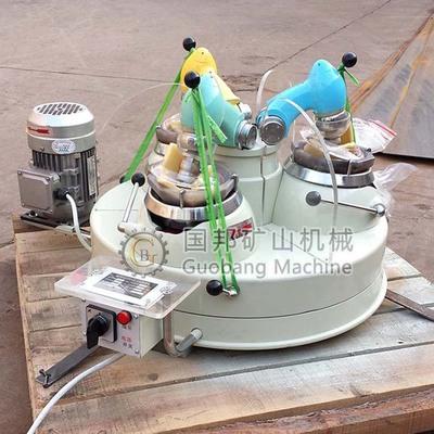 实验室三头玛瑙研磨机XPM120*3三头研磨机非金属转轴式玛瑙制样机