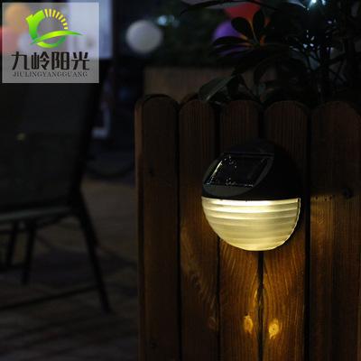 厂家直销新款太阳能灯6LED户外花园景观灯防水庭院壁灯台阶灯批发