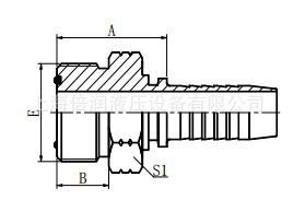 供应美制ORFS外螺纹平面0型圈密封14211液压软管接头