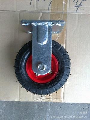 6寸150直径钢芯橡胶充气轮胎脚轮打汽轮万向脚轮轮胎内外胎