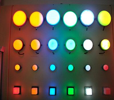 LED点光源户外防水100MM12灯5050贴单色全彩点光源外墙装饰灯