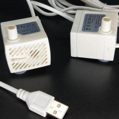 USB水泵 5V水培食品医疗冷却循环静音微型无刷直流水泵白色水泵