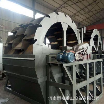 矿山水轮式移动洗砂机 大型洗沙机设备生产线 双螺旋洗砂机
