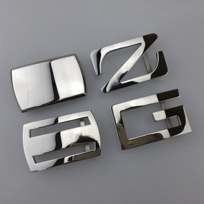 厂家直销不锈钢高档皮带扣头钢板扣头平滑扣一件代发腰带扣头