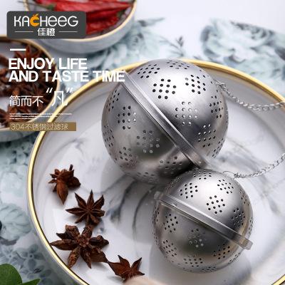 304不锈钢调料球炖汤煮肉大料过滤袋调料盒香料球包滤袋卤料罐笼