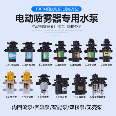 电动喷雾器水泵12v水泵回流泵往复泵隔膜泵高压泵自吸泵智能双泵