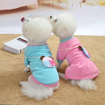 博美秋冬装宠物狗狗可爱衣服泰迪比熊新品猫咪米奇连衣裙中小型犬