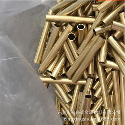 黄铜管 H65黄铜毛细铜管薄壁毛细铜管 空心黄铜管去毛刺切割