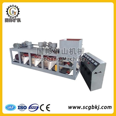 三盘带式磁选机 褐铁矿弱磁磁性矿石选矿设备干式电磁选矿磁选机