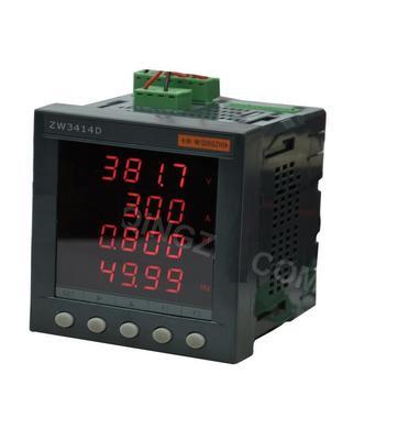 青智ZW3414D 综合电量表单相交直流功率表 功率因数 频率盘面表头