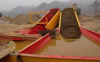加工单螺旋洗砂机 双螺旋洗矿机 人工砂洗砂机中国中铁15年合作商
