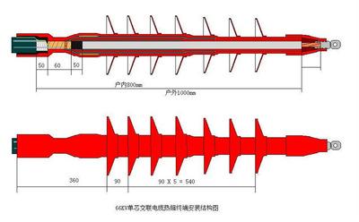75KV直流除尘电缆热缩终端 单芯95mm2 除尘效果好