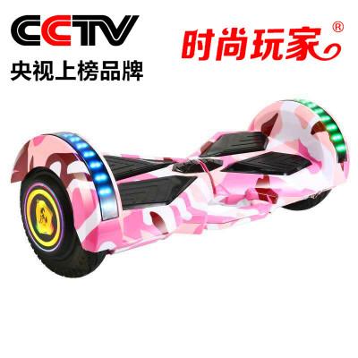 时尚玩家平衡车儿童成人代步漂移蓝牙跑马灯发光轮带扶手的平衡车