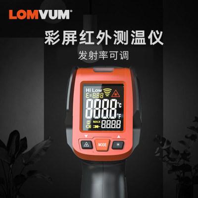 龙韵彩屏红外线测温仪激光测温枪数显温度计工业手持温度测试仪